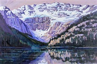 september morning, lake louise by zelda faye nelson