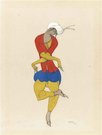 costume design for ladoration maria kuznetsova by leon bakst