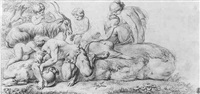 nymphs and a drunken satyr by pietro benvenuti