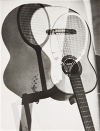 guitares, double exposition by maurice tabard