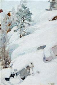 winter landscape by pekka halonen