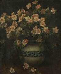 flowers in vase by marguerite ludovici