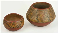 santa clara redware bowls (2 works) by lela and luther gutierrez