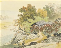 landscape in autumn by gyokudo kawai