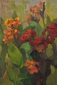 canna lilies by franz arthur bischoff