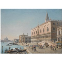 the doge's palace, venice by luigi querena