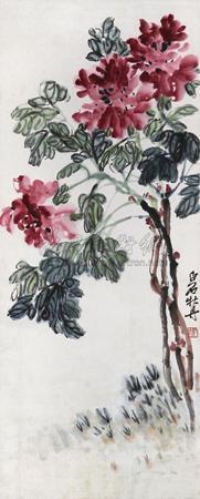 牡丹 by qi baishi