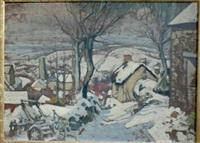 paysage du morvan sous la neige by louis charlot