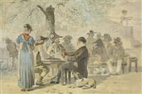 tablée campagnarde (+ another; 2 works) by rodolphe töpffer