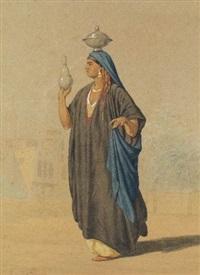 femme orientale by louis emile pinel de grandchamp