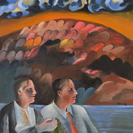 twins by bhupen khakhar