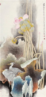 路路连升 (birds in the louts pond) by sima lianyi