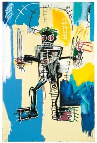 warrior by jean-michel basquiat
