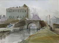 the bridge at sallins, co. kildare by niccolo d'ardia caracciolo