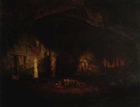 grutas de cacahuamilpa by jean baptiste louis (baron gros) gros