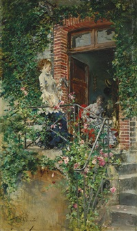 on the terrace by giovanni boldini