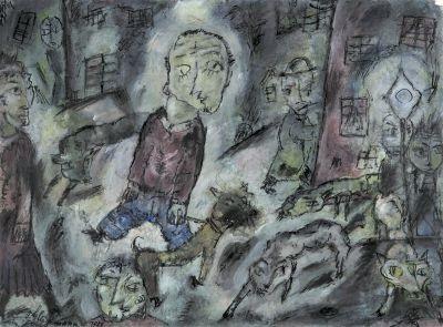 Straßenszene by Otto Gleichmann on artnet