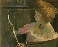 jesse steele, reading by john white alexander