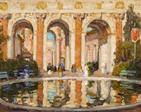 the pool, palace of fine arts, san francisco (court of the four seasons) by e.charlton fortune