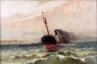le bateau à vapeur dans la tempête by emile godchaux