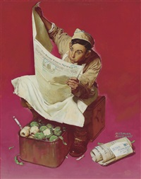 willie gillis: hometown news by norman rockwell