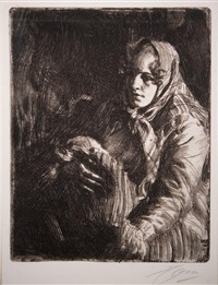 the mother (swedish madonna) by anders zorn