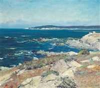 carmel seascape (a blue sea, carmel) by guy rose