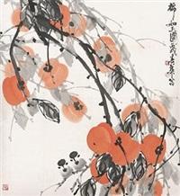 柿柿如意图 by liu chunhua