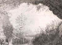 vue prise depuis la grotte de notre-dame de salborde près de vesoul by jean-alexis cornu