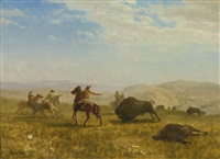 the wild west by albert bierstadt