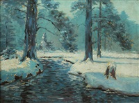 paysage d'hiver by charles frechon