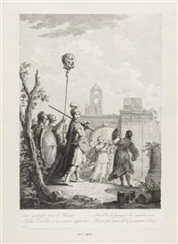 szenen aus dem alten testament (4 works) (after giuseppe zocchi and jacopo amigoni) by francesco bartolozzi