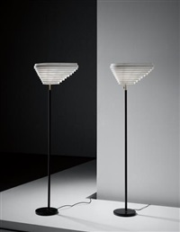 pair of 'angel's wing' standard lamps, model no. a805 by alvar aalto