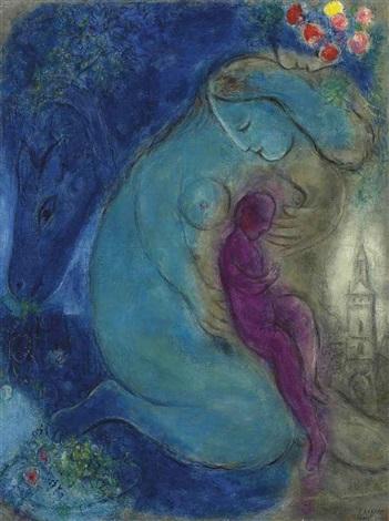 le quai aux fleurs by marc chagall