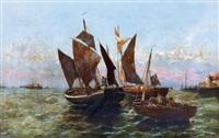 sea scene by georg fischhof