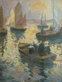 bretonnes dans la barque du passeur by renée carpentier