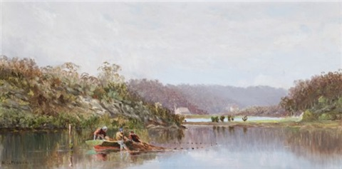 on lane cove river by william charles piguenit
