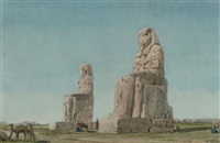 the colossi of memnon, thebes by richard phene spiers