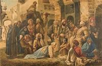 auf dem bazar by leopold-eugene kampf