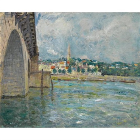 le pont de st cloud by alfred sisley