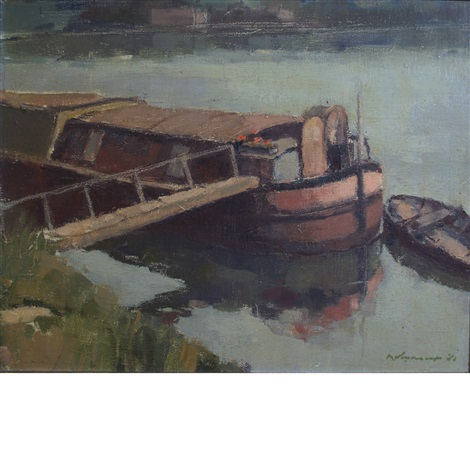 Houseboat On The Seine By Edward Molyneux On Artnet