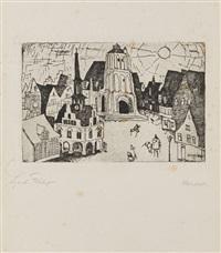 sonnenaufgang (kleinstadt) by lyonel feininger