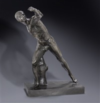the borghese gladiator by antique