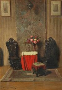 interior scene by endre komaromi-kacz