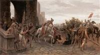 scena romana by edmond pierre henri adolphe silvestre du perron