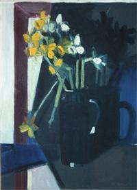 daffodils against blue by brian ballard