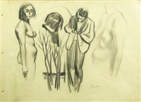 page of scketches by corneliu baba