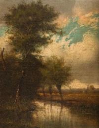 paysage (pair) by jules dupré