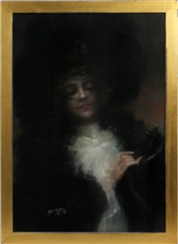 woman wearing hat by charles a. bryson