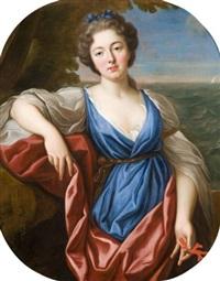 portrait de femme en thétis by nicolas fouche